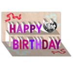 NAN777 - Happy Birthday 3D Greeting Card (8x4)