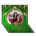 Merry Christmas 3D Circle Christmas Card - Circle 3D Greeting Card (7x5)