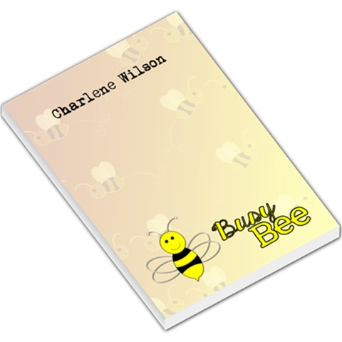 Busy Bee Notepad By Patricia W   Large Memo Pads   Kva4502hjb8v   Www Artscow Com