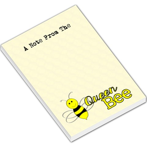 Queen Bee Notepad By Patricia W   Large Memo Pads   Ztbj0sp9bdhc   Www Artscow Com