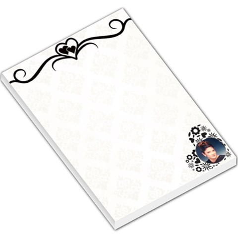 Heart Boarder Large Memo Pad By Kim Blair   Large Memo Pads   Qyndxdws47x7   Www Artscow Com