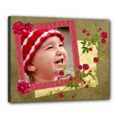 Shabby Rose - Canvas 20x16(stretched)  - Canvas 20  x 16  (Stretched)