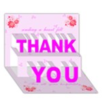 Heart Felt Thank You card (7 x 5) - THANK YOU 3D Greeting Card (7x5)