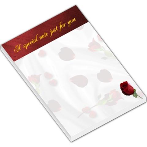 Rose Petal Memo Pad Large By Kim Blair   Large Memo Pads   Bs5tsdgg0ejm   Www Artscow Com