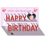 Rose Birthday card - Happy Birthday 3D Greeting Card (8x4)