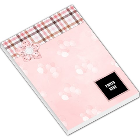 Watch Me Grow Girl Memo Pad 2 By Lisa Minor   Large Memo Pads   Wyu92ivn1eij   Www Artscow Com
