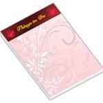 red swirl large memo pad - Large Memo Pads