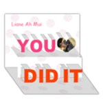 liane - You Did It 3D Greeting Card (7x5)