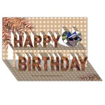 Guys 3D Happy Birthday Card - Happy Birthday 3D Greeting Card (8x4)