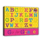 Girls Personalised Name Canvas - Canvas 14  x 11  (Stretched)