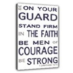 Present - 1 Corinthians 16:13 - Canvas 18  x 12  (Stretched)
