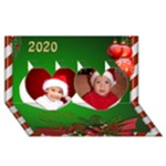 The Christmas Heart 3D Card 2015 - Twin Hearts 3D Greeting Card (8x4)