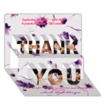 thank u 2 - THANK YOU 3D Greeting Card (7x5)
