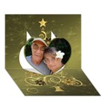 Merry Christmas 2012 3d Card Template - Heart 3D Greeting Card (7x5)