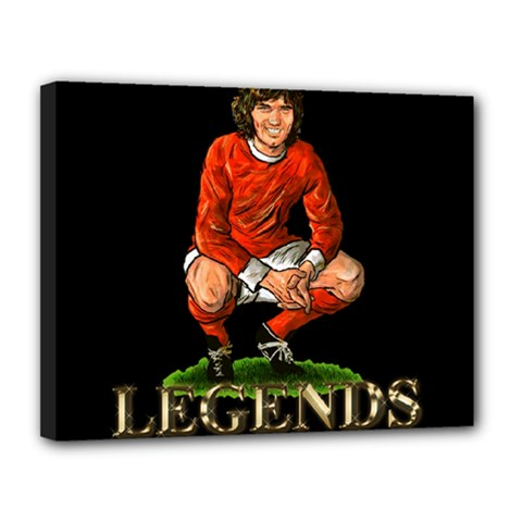 George Best Canvas 14  x 11  (Stretched) by OurInspiration