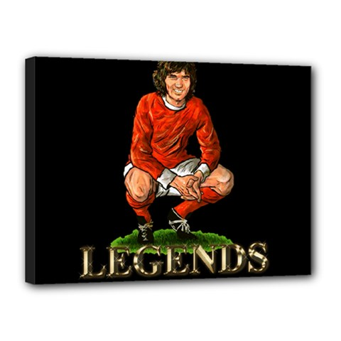 George Best Canvas 16  x 12  (Stretched) by OurInspiration