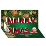 My Merry Christmas 3D Card - Merry Xmas 3D Greeting Card (8x4)