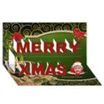 Merry Christmas 3d Card - Merry Xmas 3D Greeting Card (8x4)