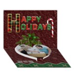 Happy Holidays 7x5 3D Card - Heart Bottom 3D Greeting Card (7x5)