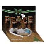 Peace 7x5 3D Card - Heart Bottom 3D Greeting Card (7x5)