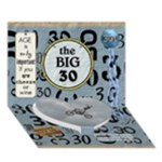 30th Birthday 7x5 3D Card - Heart Bottom 3D Greeting Card (7x5)