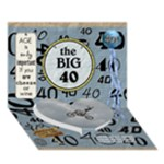 40th Birthday 7x5 3D Card - Heart Bottom 3D Greeting Card (7x5)