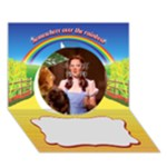 WIZARD OF  OZ - Circle 3D Greeting Card (7x5)