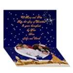 Christmas Village Heart 3D Card - Heart Bottom 3D Greeting Card (7x5)