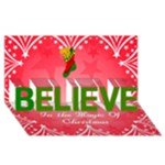 Heart frames Believe in Christmas Card (8 x 4) - BELIEVE 3D Greeting Card (8x4)