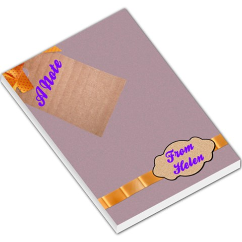 A Note From Helen By Patricia W   Large Memo Pads   Y6s1xlokprgn   Www Artscow Com