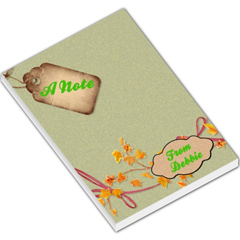 A Note From Debbie By Patricia W   Large Memo Pads   9hh9q53cy83o   Www Artscow Com