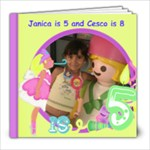 JANICA IS 5 CESCO IS 8 - 8x8 Photo Book (20 pages)