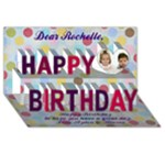 rochelle card - Happy Birthday 3D Greeting Card (8x4)