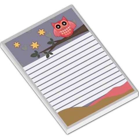 Owl Memo 2 By Lillyskite   Large Memo Pads   Lt66a0o220c0   Www Artscow Com
