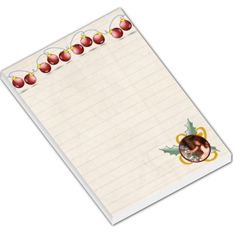 Christmas Ornaments Large Memo Pad By Kim Blair   Large Memo Pads   E1craeeln950   Www Artscow Com