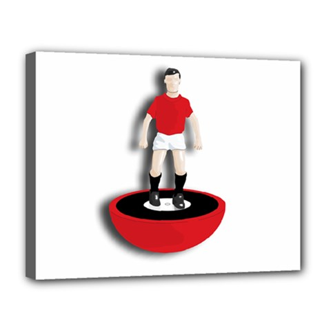 Subbuteo 3 Canvas 14  x 11  (Stretched) by OurInspiration
