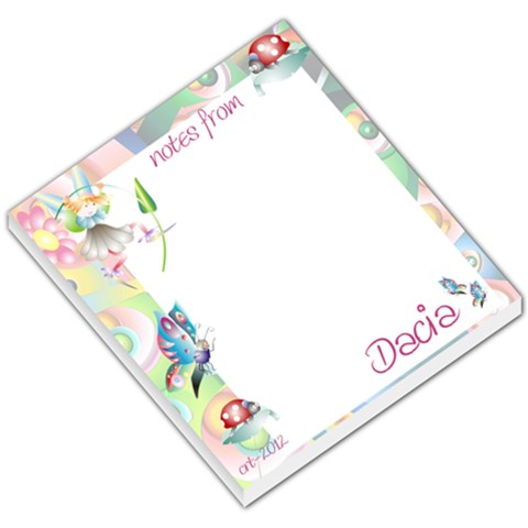 Notes   Dacia2 By Crystal Teed   Small Memo Pads   Agfqmusftuai   Www Artscow Com