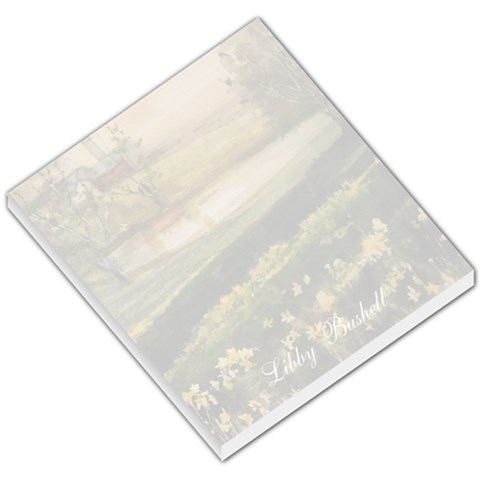 Libby Small Memo Barn With Flowers 36 By Liz Mcgowan   Small Memo Pads   7rvp0npzchiz   Www Artscow Com