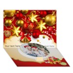 Christmas Circle Bottom 3D Greeting Card (7x5)