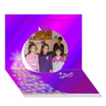 МИНЧЕВА - Circle 3D Greeting Card (7x5)