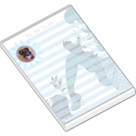My Cat Blue To Do List L Memo Pad By Birkie   Large Memo Pads   Ukyu2rycpdk4   Www Artscow Com