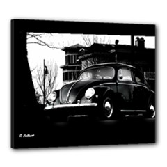 1955 VW Beetle Black Canvas Stretch  Canvas 24  x 20  (Stretched)