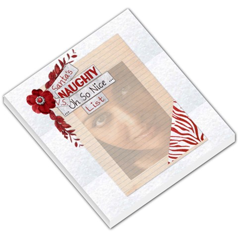Naughty Vs Oh So Nice Memo Pad By Amarie   Small Memo Pads   Ke06xaoiw1vh   Www Artscow Com