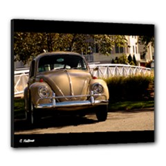1967 Savanna Beige VW Beetle Sedan Canvas 24  x 20  (Stretched)