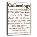Coffeeology Gift - Canvas 16  x 12  (Stretched)