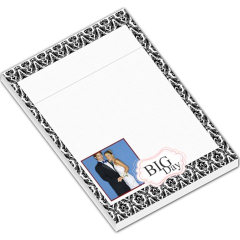 Big Day By Joely   Large Memo Pads   Mltekdo3soro   Www Artscow Com