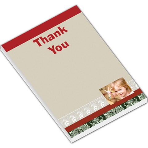 Thank You By Joely   Large Memo Pads   N89o8iiea1st   Www Artscow Com