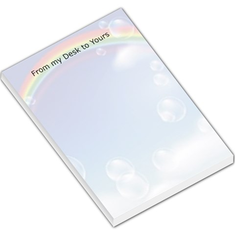 Rainbow Large Memo Pad By James Novak   Large Memo Pads   Wujluh74kfp8   Www Artscow Com