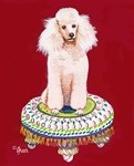 White Poodle on Tuffet