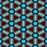 Stripes and hexagon pattern